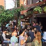 Superb beer garden at Barrio Central Cafe Bar