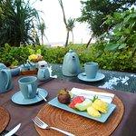 Beachside breakfast.