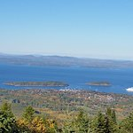 looking down on Bar Harbor
