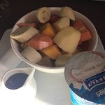 Fruit with muesli & yoghurt and fruit salad. So much fruit!