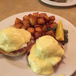 Eggs Benedict, AALTOS Garden Cafe, 2401 Saskatchewan Ave. W., Portage la Prairie, Manitoba