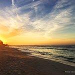Breathtaking sunrise on the beach.