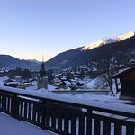 View of Morzine from hotel