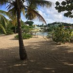Hotel grounds and beach at Lance Aux Epines