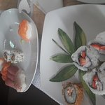 Combination + panado maki + morango sushi