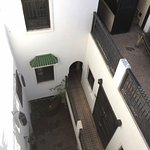 Top down view of the Riad from the roof