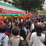 Wong Tai Sin Temple - crowds at CNY