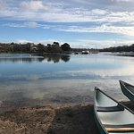 Canoeing on a beautiful winters day.