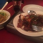 Barbeque duck and noodles