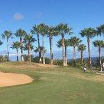 Ein Golfplatz mit traumhafter Kulisse...