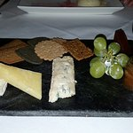 Cheese Selection - Grapes have condensation on them, not mould!