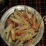 Crab legs with garlic and lemon