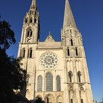 Beautiful stained glass windows in Chartres cathédrale