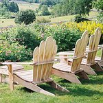Watch the world go by from our Adirondack chairs.