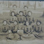 Wonder if anyone can tell me what school this is?.Its an old 1900 vintage women basketball.I fou
