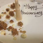 Photos of our puddings - I told the restaurant in advance it was our anniversary dinner.