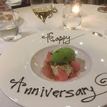 Photos of our puddings - I told the restaurant in advance it was an important anniversary dinner