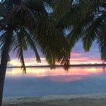 Solnedgång över lagunen