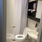 Smart queen room.. bathroom was so small I (at 5'5 155lbs) had to wiggle in to shut the door lim