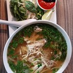 Pho Ga. Quite a few flavors swimming in here to tickle your tastebuds.