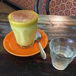 Delicious golden milk and kefir water