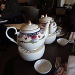 Teapot on teapot warmer