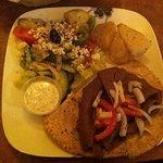 Gyros Dinner with Potatos, Greek Salad and Pita