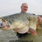 Fishing for catfish on the River Ebro in Caspe