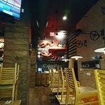 cool restaurant decor.