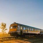 Train de Charlevoix entrant en gare à Baie-St-Paul Photographe: Caroline Perron
