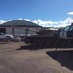 tanks and polce cars