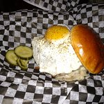 Tipsy Cow - King St - Off the Square - WI State Capitol - Special Knoche Burger with egg