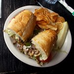 Philly cheese steak and chips