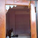 Smashed in door