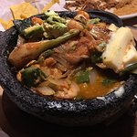 Molcajete--flavorful and not spicy.