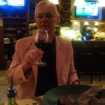 BY 70 TH BIRTHDAY DINNER WITH MY WIFE NINUS.