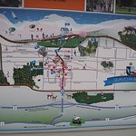 TOWN MAP ON SIDE OF VISITOR CENTRE