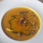 Squash Parsnip Soup with mushrooms