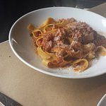 Fresh pasta with lamb ragu