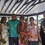 The Pacific Queens at Savaii, Saomoa with the Sponsor King Solomon Hotel