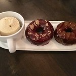 Coffee ice cream & Donuts