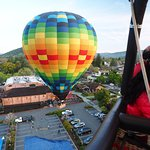 Amazing balloon ride. Just after lift-off