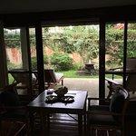 A look from the garden villa