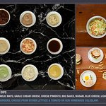 Different sauces and dips