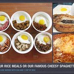 All-day Breakfast Rice meals and Pasta