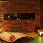 Relax zone with fireplace