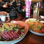 Seared Ahi Salad and Street Noodles