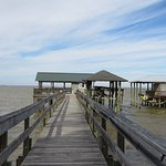 The pier. There are chairs and a hammock to use.