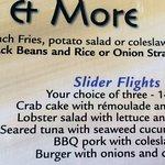 Slider Flights on menu