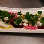Truffled beetroot & goats cheese salad